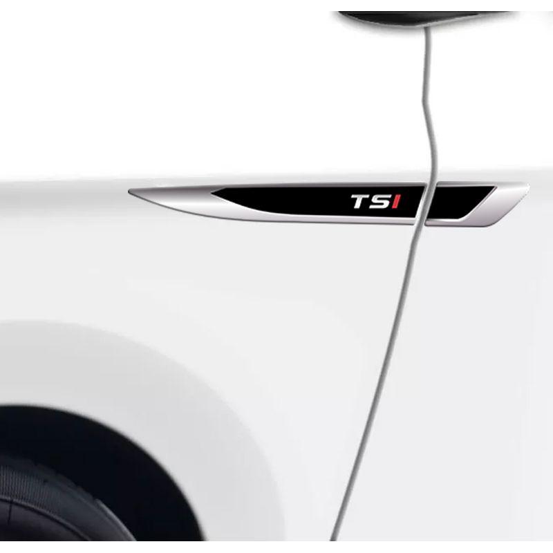 """Emblema Resinado Aplique Lateral Tsi """"I"""" Vermelho Inclinado"""