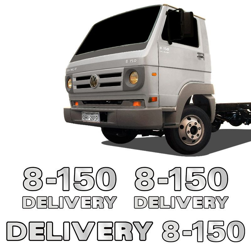 Emblemas 8-150 Delivery Volkswagen Adesivo Caminhão Cromado