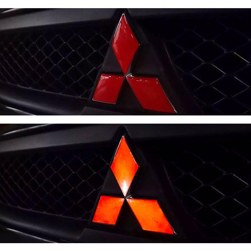 Emblemas Logo Lancer Mitsubishi Adesivo Resinado Refletivo