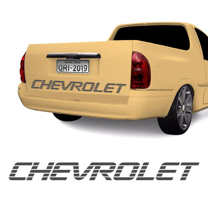 Faixa Chevrolet Corsa Picape Pick-Up Tampa Traseira Grafite