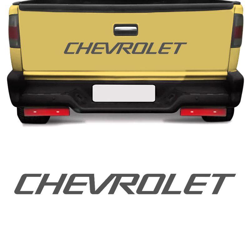 Faixa Chevrolet S10 1995/2000 Tampa Traseira Adesivo Grafite