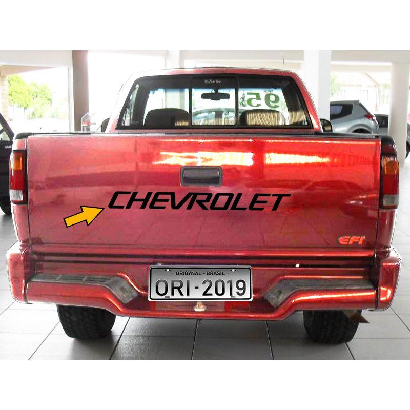 Faixa Chevrolet S10 1995/2000 Tampa Traseira Adesivo Preto