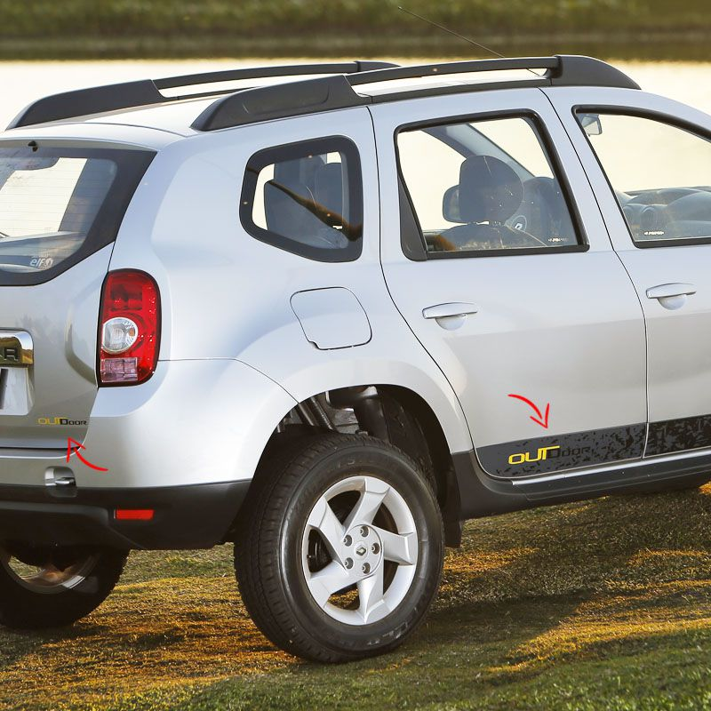 Faixa Duster Outdoor 2015  Adesivo Lateral Renault Completo