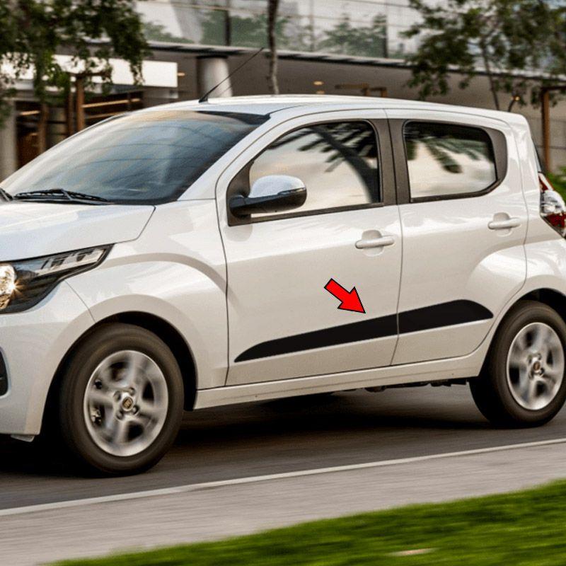 Faixa Fiat Mobi Cross Way 2019/2020 Adesivo Lateral Preto