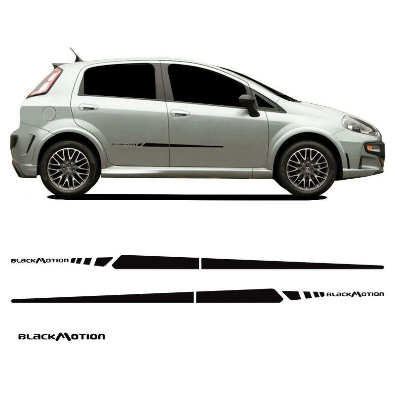 Faixa Fiat Punto Blackmotion 2014/2015 Adesivo Lateral