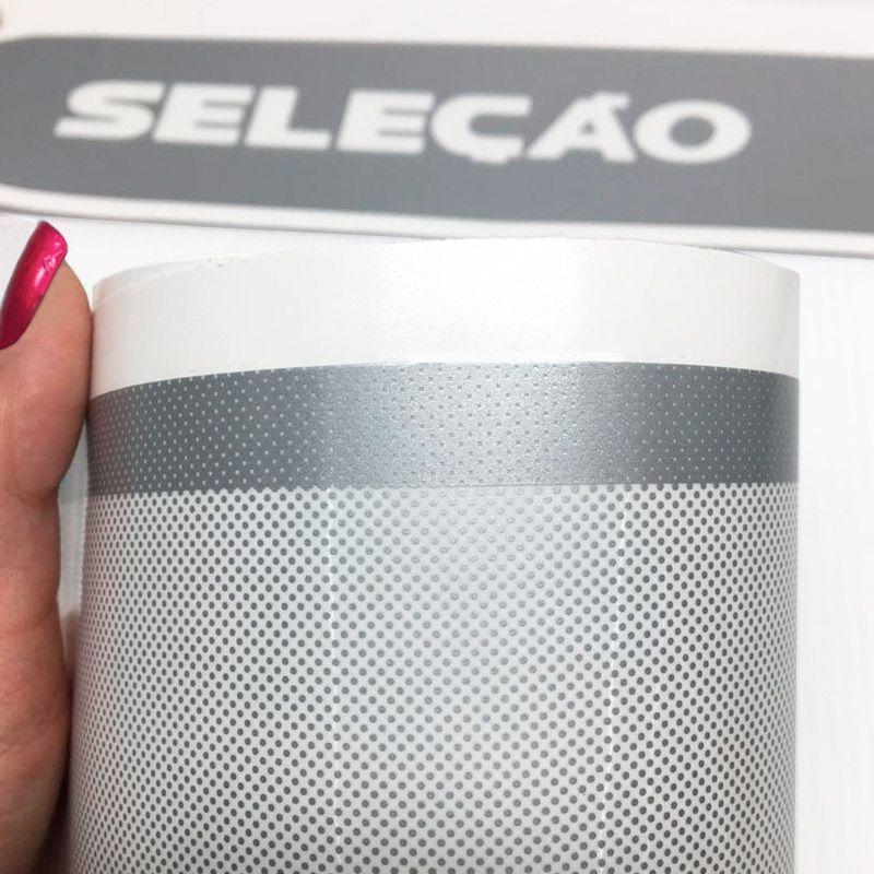 Faixa Fox Seleção 2014/2015 Adesivo Prata Modelo Original