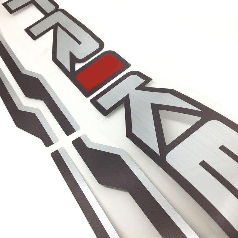 Faixa Frontier Strike 2010 Adesivo Escovado Modelo Original