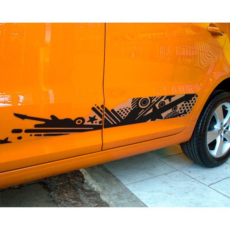 Faixa Fox Saveiro Gol Rock In Rio 2015 + Emblemas Black