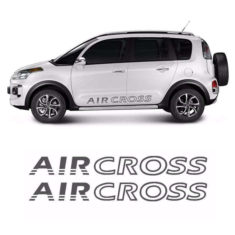 Faixa Lateral Aircross Até 2015 Adesivo Grafite