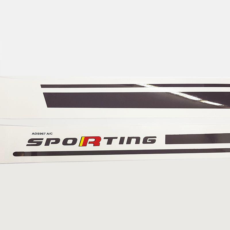 Faixa Lateral Bravo Sporting Grafite Adesivo Decorativo
