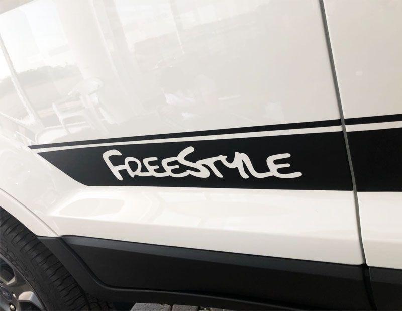Faixa Lateral Ecosport Freestyle Adesivo Decorativo Preto