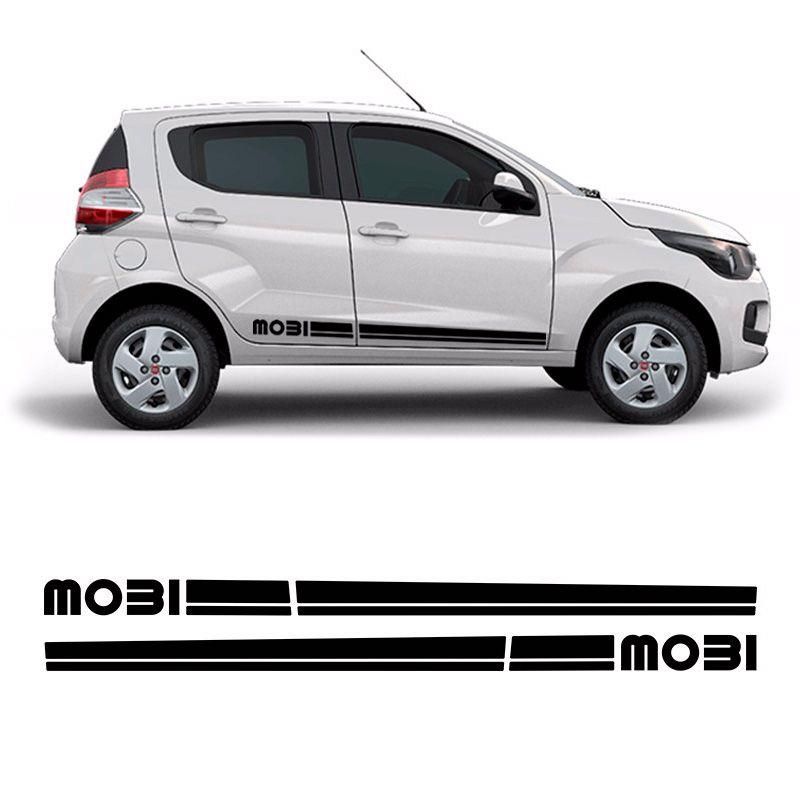 Faixa Lateral Fiat Mobi Adesivo Decorativo Preto