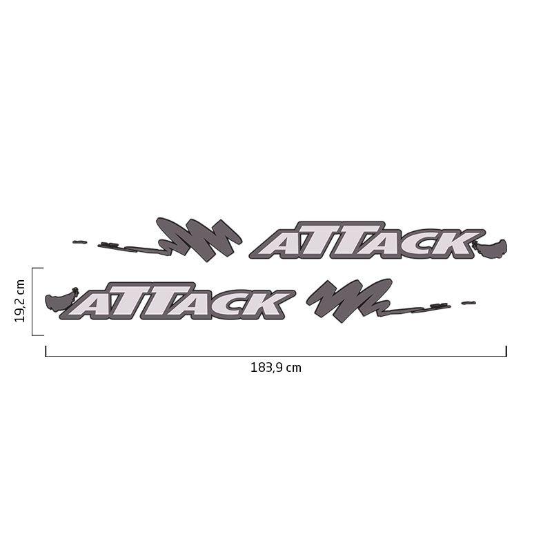 Faixa Nissan Frontier Attack 2002/2008 Adesivo Lateral