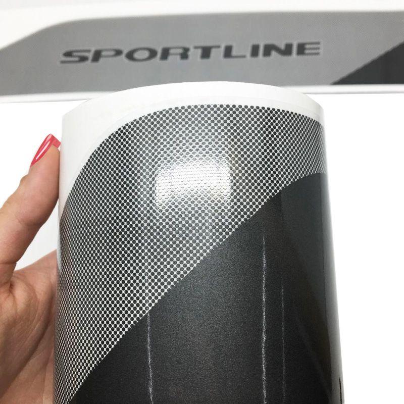 Faixa Polo Sportline 2014 Adesivo Grafite Modelo Original
