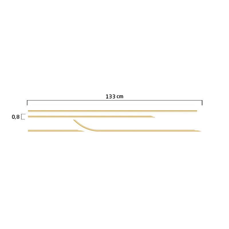 Faixa S10 Executive 2001/2002 Cabine Simples Adesivo Dourado