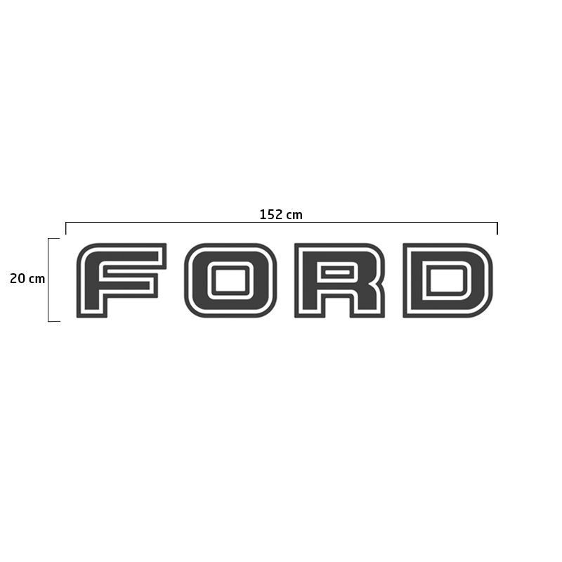 Faixa Tampa Traseira Ford F-250 2004/2010 Adesivo Grafite