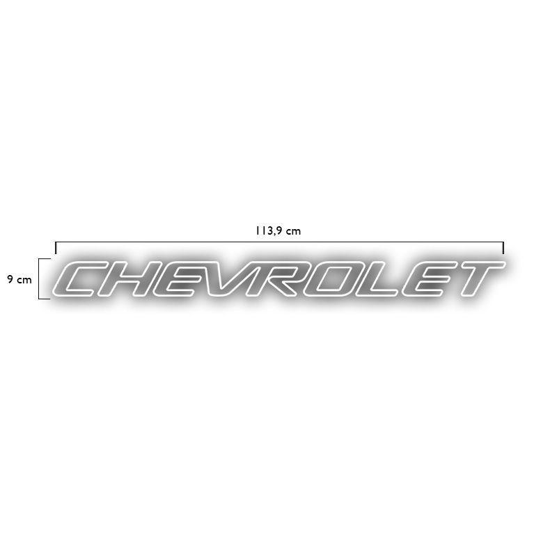 Faixa Tampa Traseira S10 1999/2005 Chevrolet Adesivo Branco