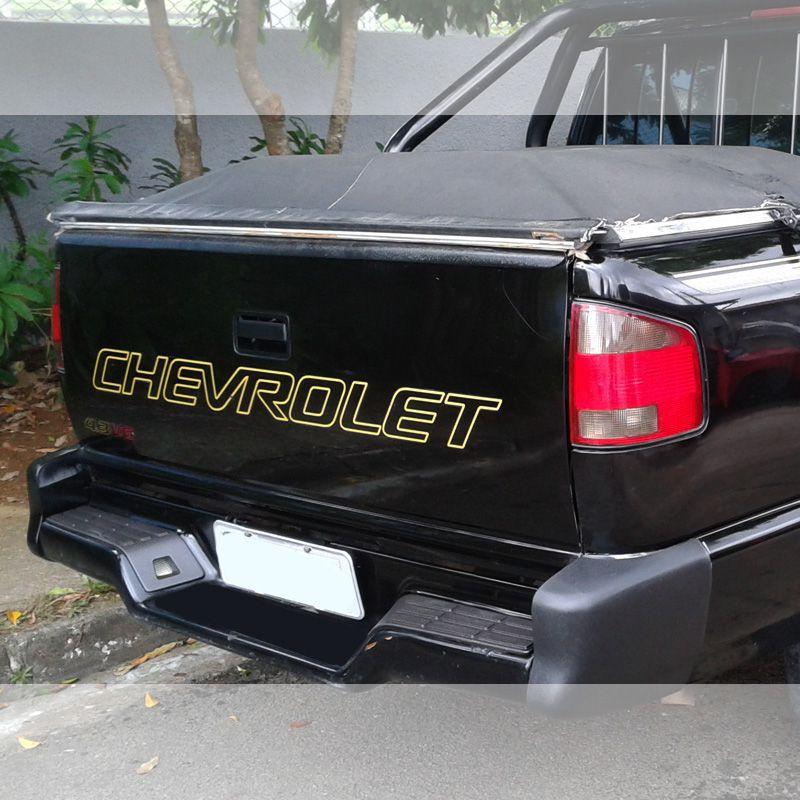 Faixa Tampa Traseira S10 1999/2005 Chevrolet Adesivo Dourado