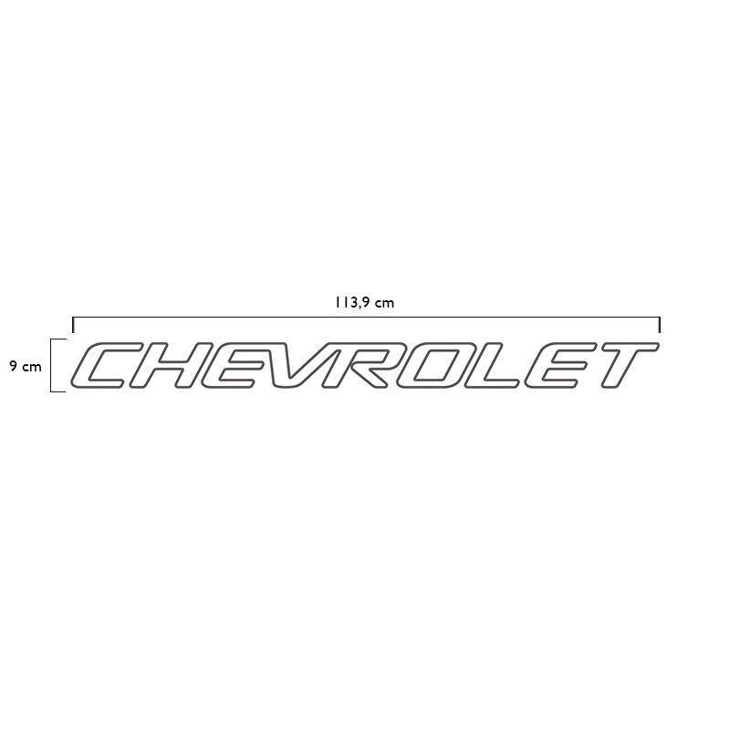 Faixa Tampa Traseira S10 1999/2005 Chevrolet Adesivo Grafite