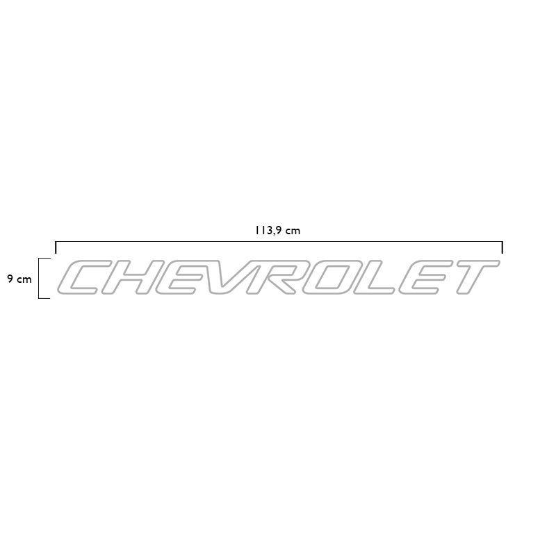Faixa Tampa Traseira S10 1999/2005 Chevrolet Adesivo Prata
