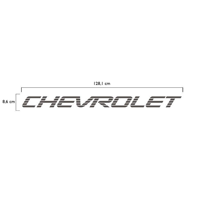 Faixa Traseira Chevrolet D20 Adesivo Grafite Modelo Original