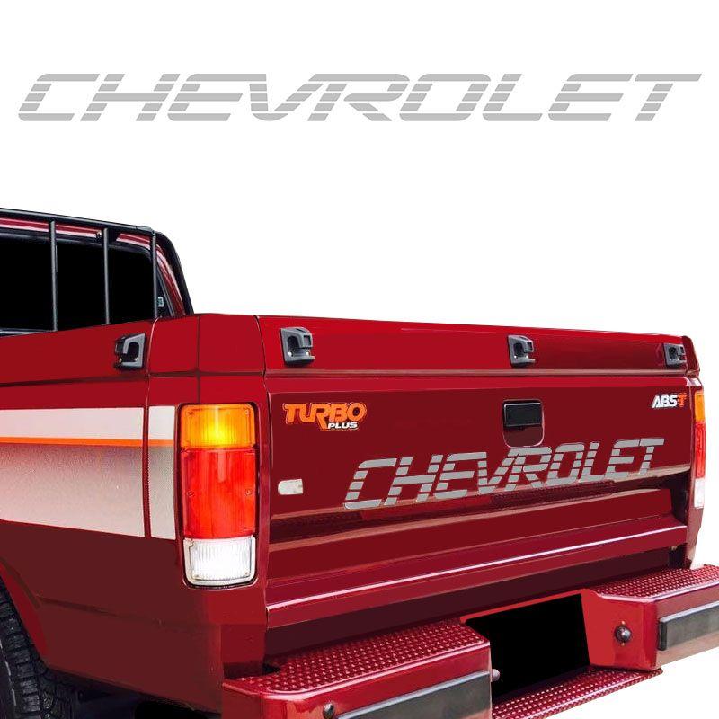 Faixa Traseira Chevrolet D20 Adesivo Prata Modelo Original