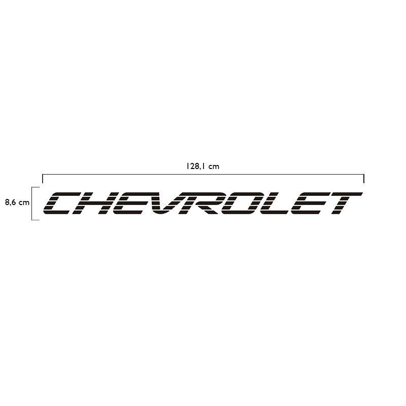 Faixa Traseira Chevrolet D20 Adesivo Preto Modelo Original