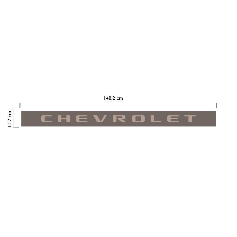 Faixa Traseira Chevrolet S10 Rodeio 2006/2008 Champagne