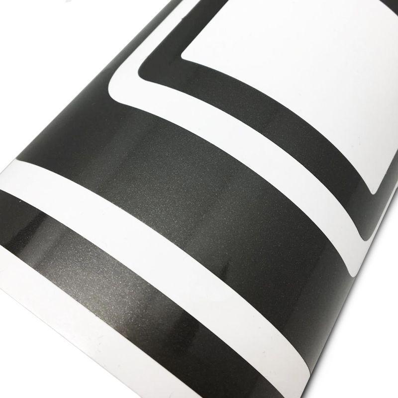 Faixa Traseira Ford F250 Adesivo Grafite + Soleira Protetora