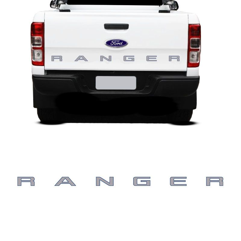 Faixa Traseira Ranger 2013/ Adesivo Cinza e Contorno Azul