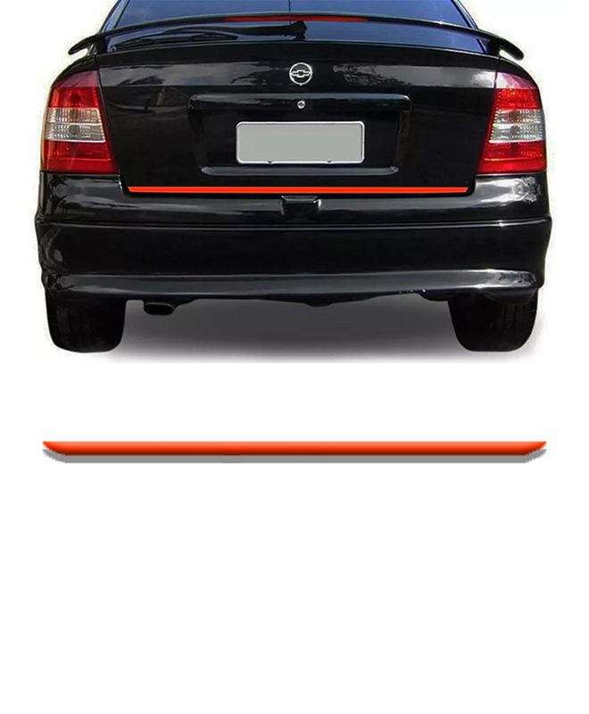 Friso Do Porta malas Chevrolet Astra Vermelho Refletivo