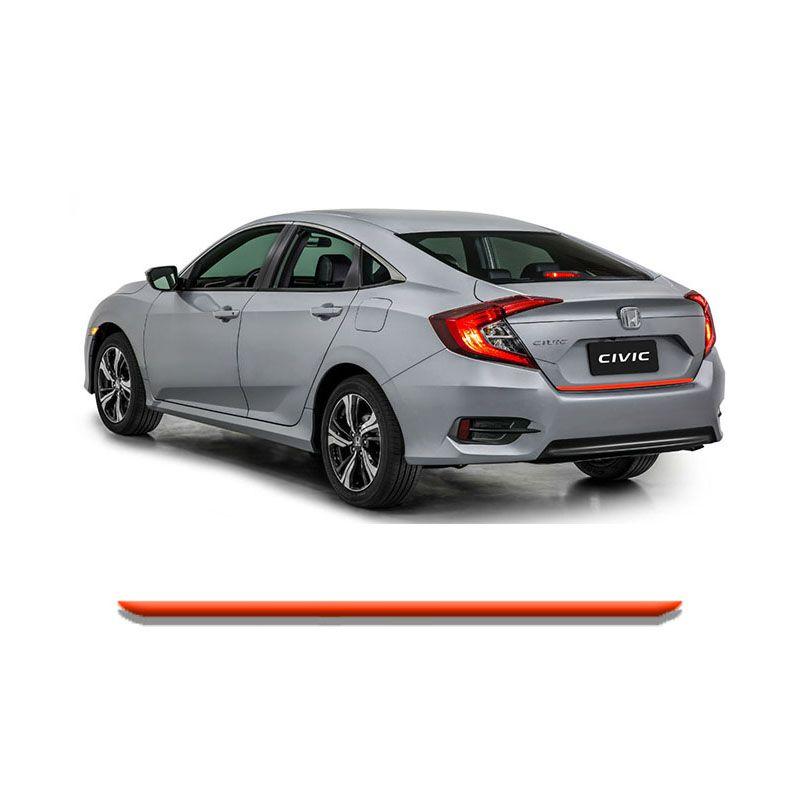 Friso Do Porta malas Honda Civic G10 17/  Vermelho Refletivo