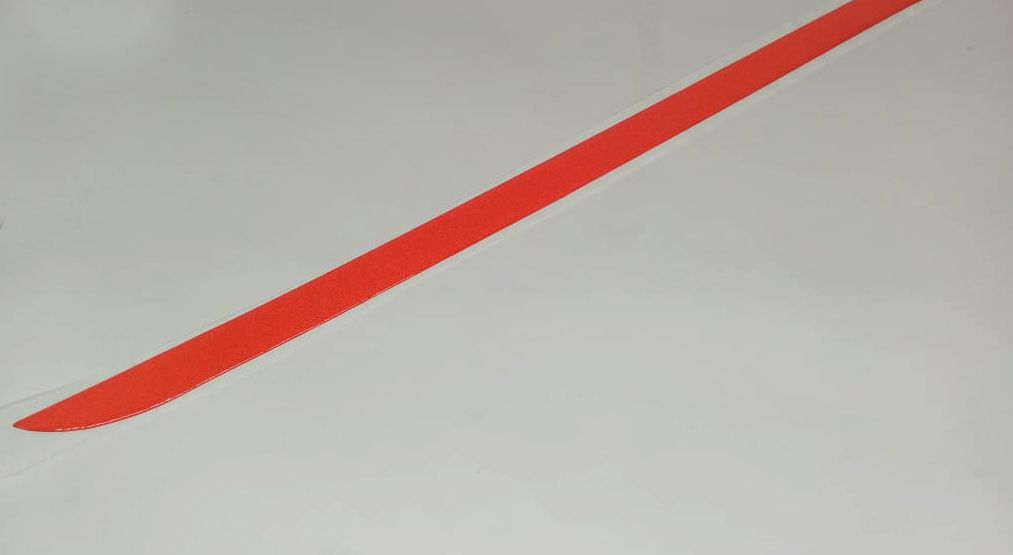 Adesivo Porta malas Prisma 2013 à 2014 Vermelho Refletivo
