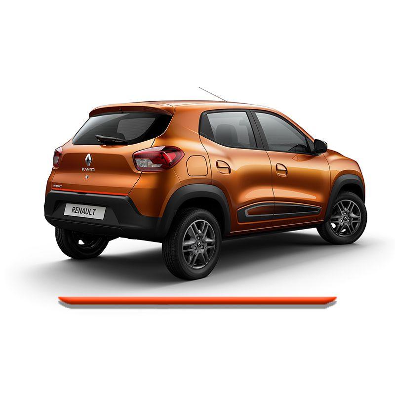 Friso Do Porta malas Renault Kwid 2018 Vermelho Refletivo