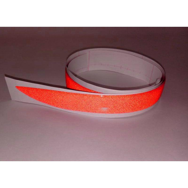 Friso Para-Choque Bmw 320 328 2014/2015 Vermelho Refletivo