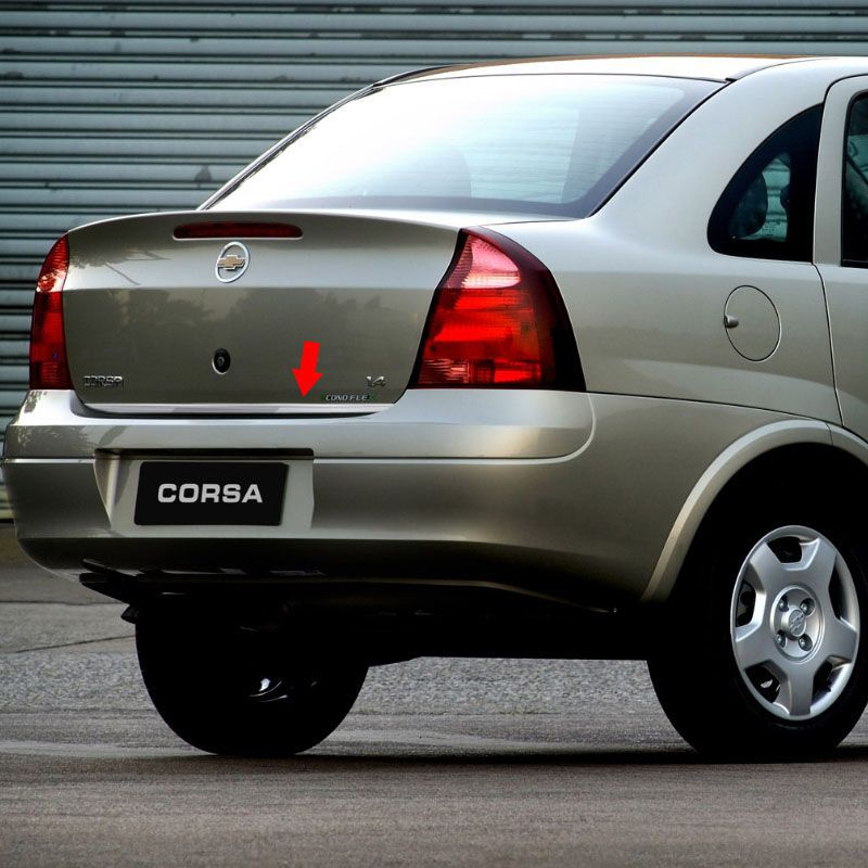 Friso Porta-Malas Corsa Sedan 2003 + Kit Soleira Protetora