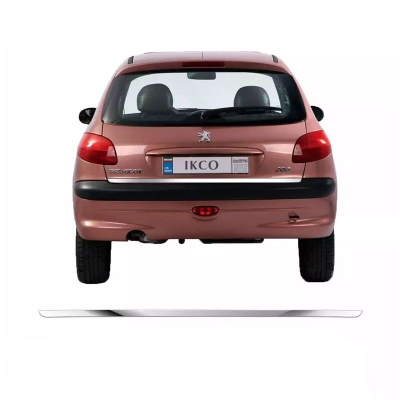Friso Porta Malas Cromado Resinado Peugeot 206