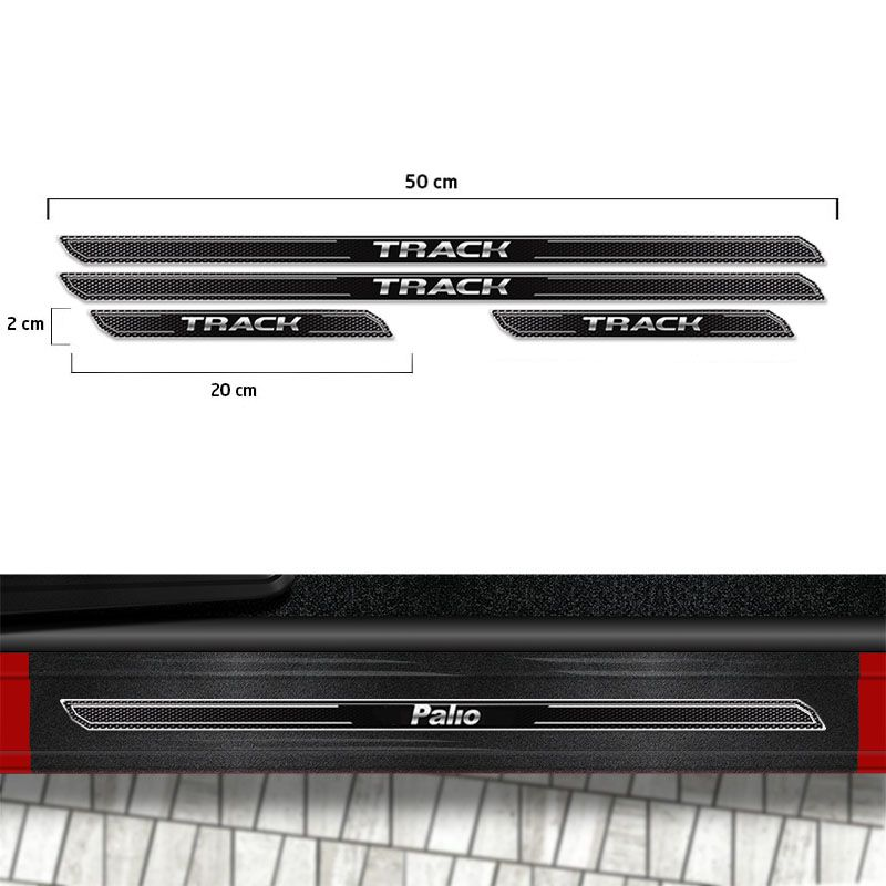 Friso Porta-Malas Gol G6 Track + Kit Soleira Protetora
