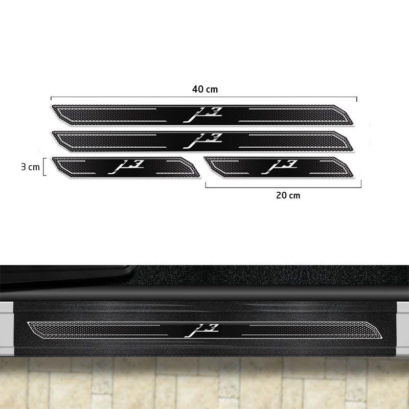 Friso Porta-Malas Jac Motors J3 Hatch + Kit Soleira Protetora