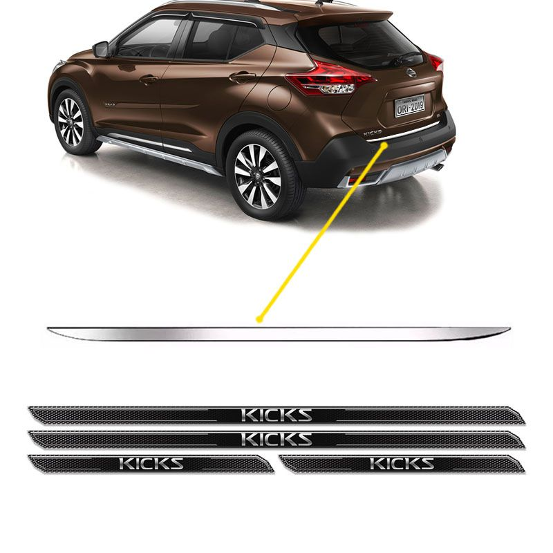Friso Porta-Malas Nissan Kicks + Kit Soleira Protetora