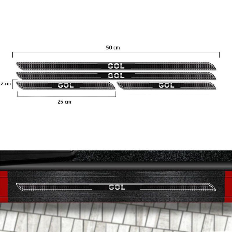 Friso Porta-Malas Volkswagen Gol G6 + Kit Soleira Protetora