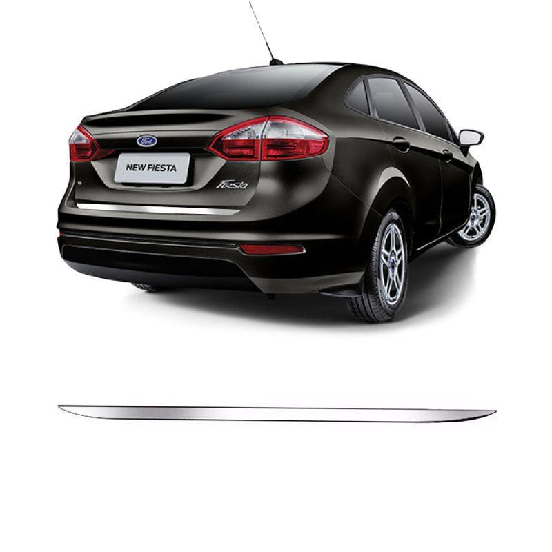 Friso Traseira Porta Malas Cromado Resinado New Fiesta Sedan