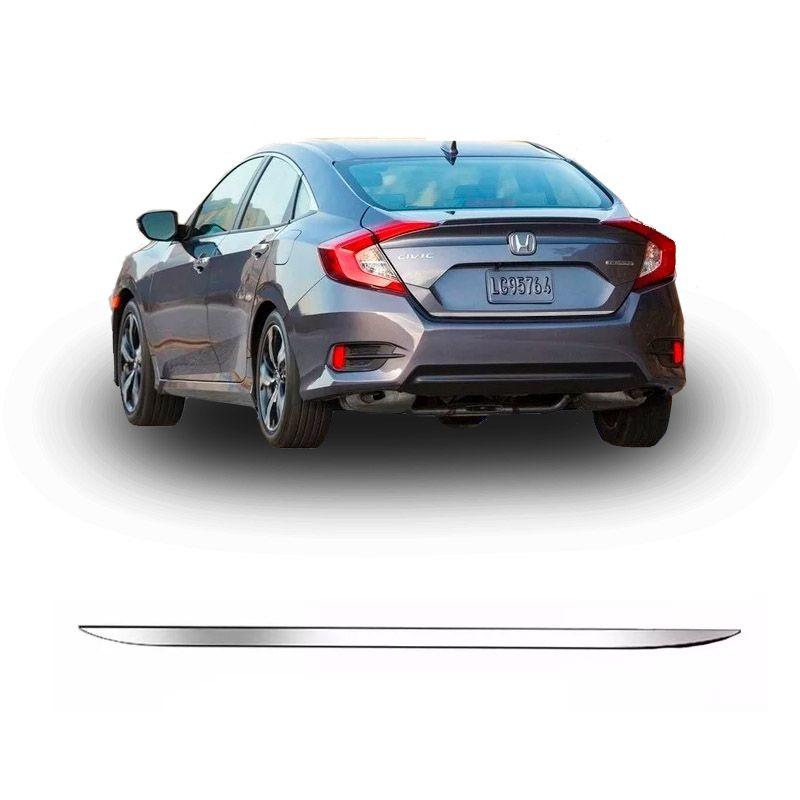 Friso Traseiro Inferior Porta Malas Civic G10 Cromado Resinado