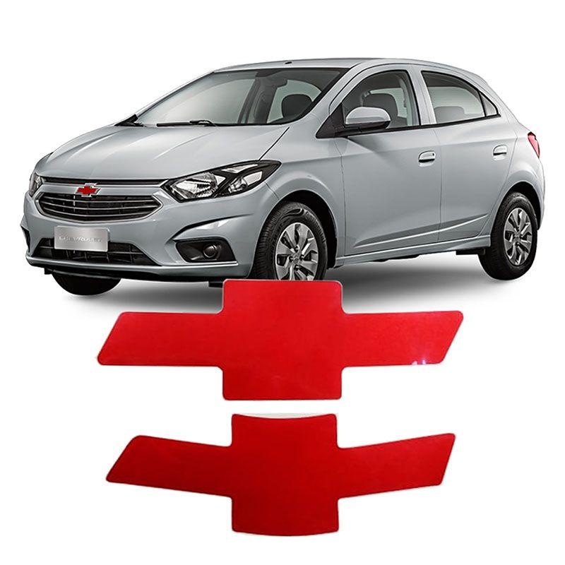 Gravata Adesiva Chevrolet Onix 2017 Vermelho Refletivo
