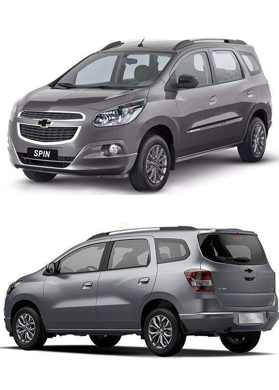 Gravata Adesiva Resinada Chevrolet Spin 2018 Carbono