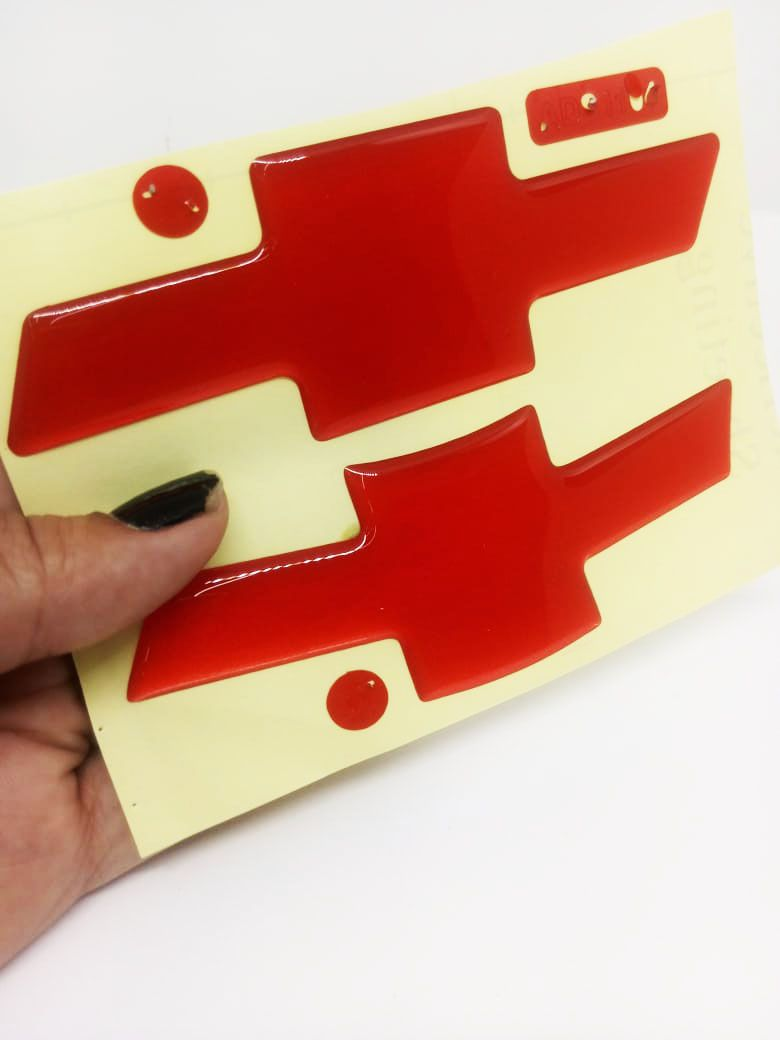 Gravata Adesiva Resinada Tracker até 2017 Vermelho Refletivo