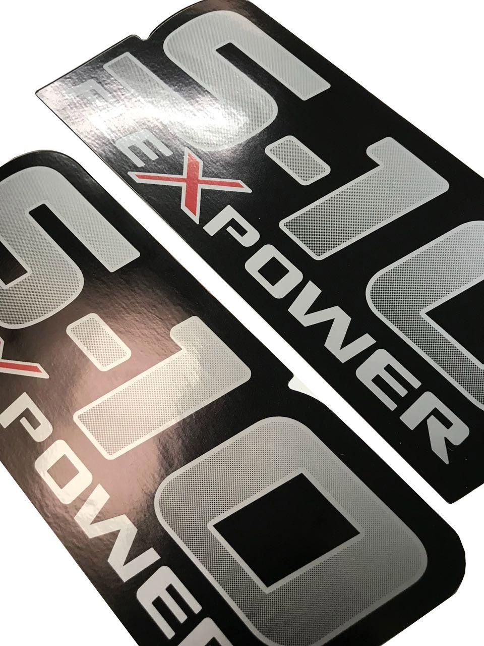 Jogo de Faixa Decorativa S10 Rodeio 2011 Flex Power Vermelho