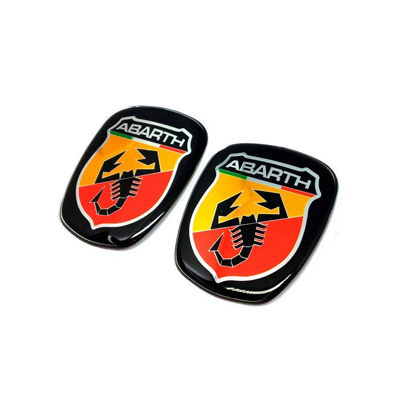 Kit 2 Adesivos Emblemas Abarth Fiat Novo Palio