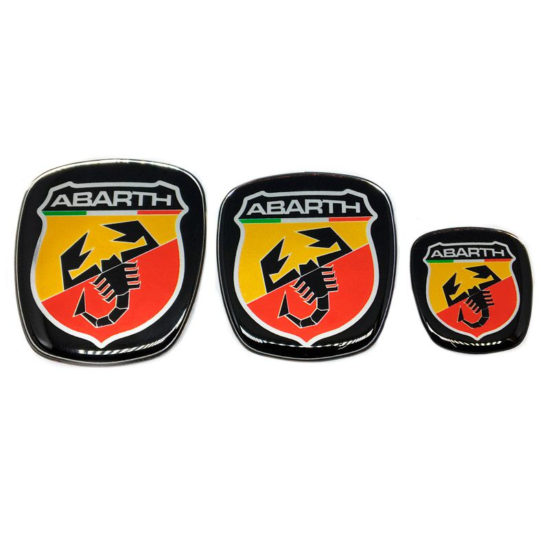 Kit 3 Adesivos Emblema Fiat Abarth Grand Siena