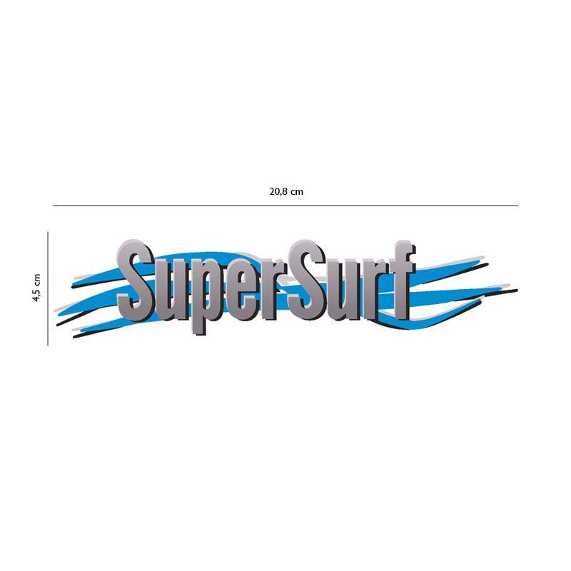 Kit 3 Adesivos Super Surf Saveiro Parati Gol 2003/2008 Cinza